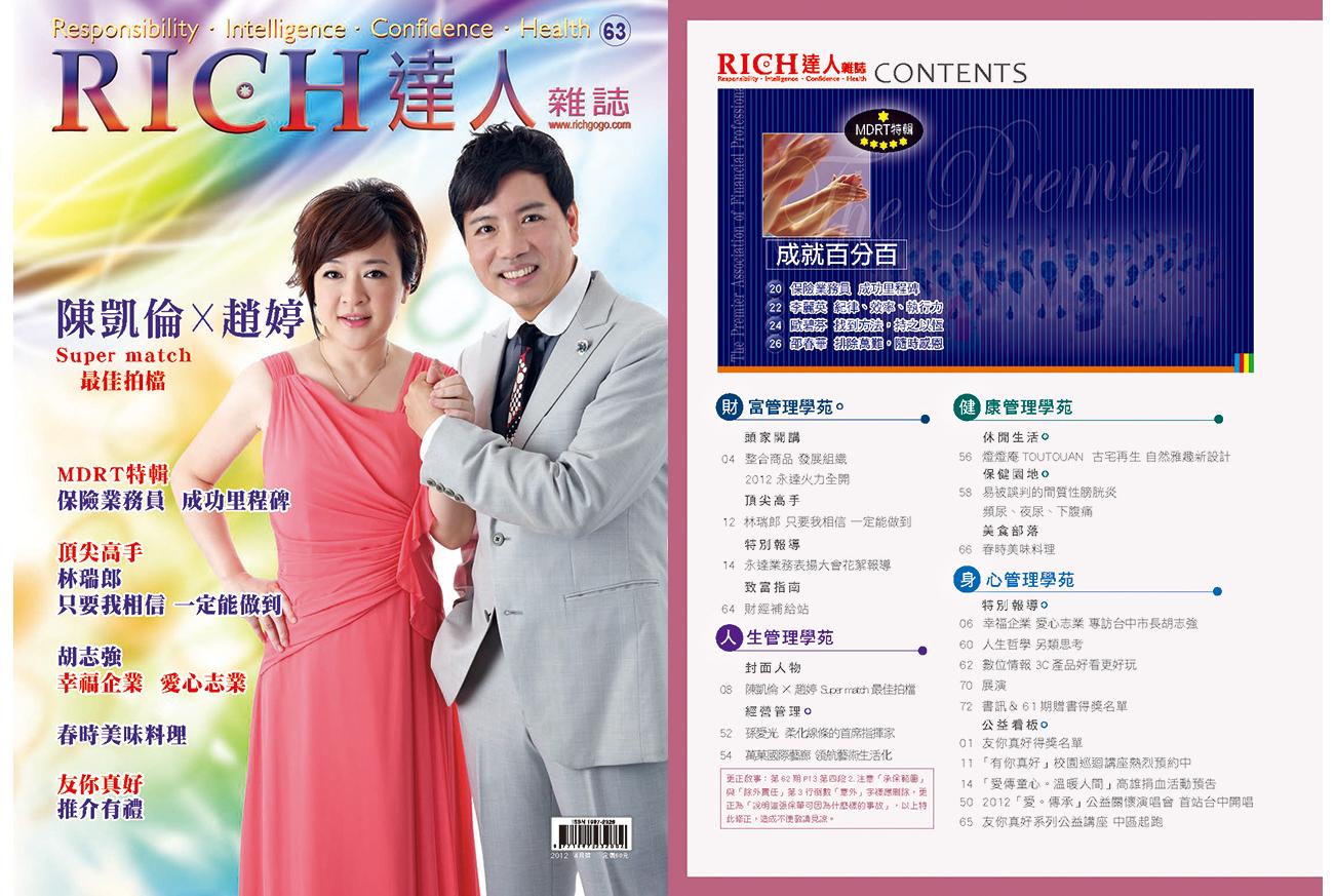 RICH達人雜誌第63期封面圖