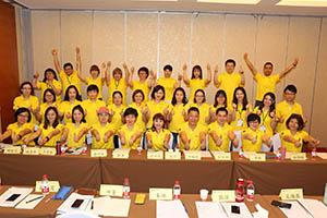 小組研討2-關主沛綺總監與程洁籌備總監和組員合照