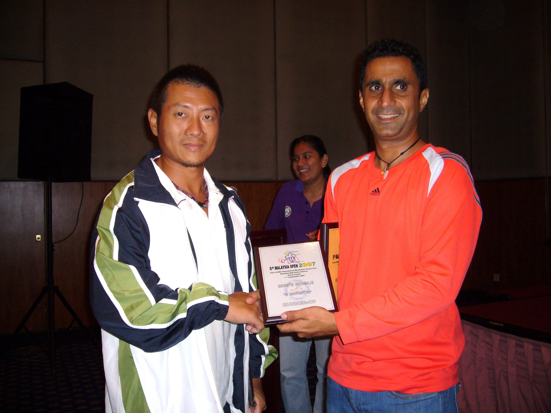 頒獎典禮-男子單打B組亞軍。