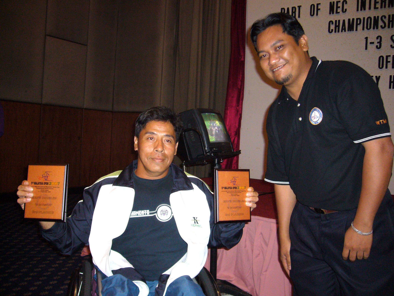 頒獎典禮-男子雙打C組亞軍。