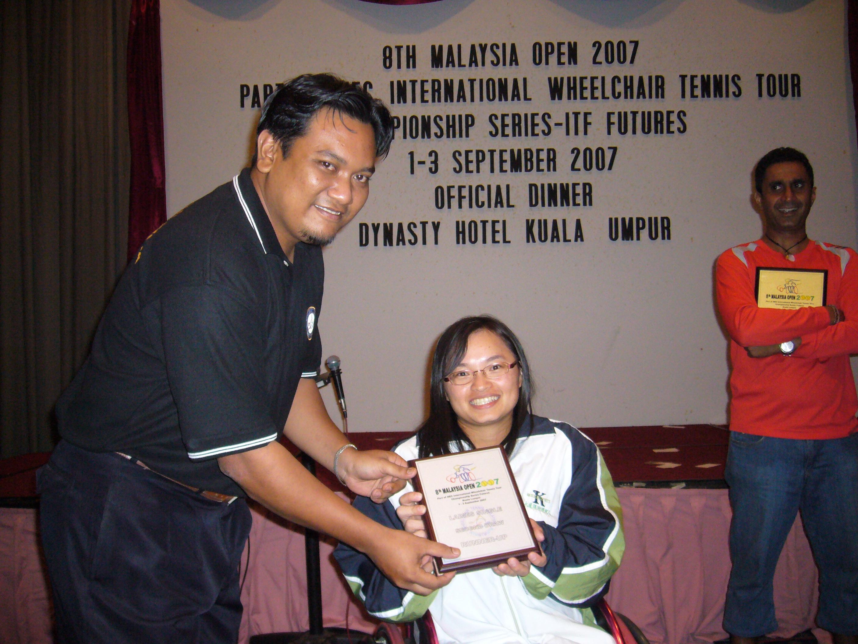 頒獎典禮-女子單打亞軍。