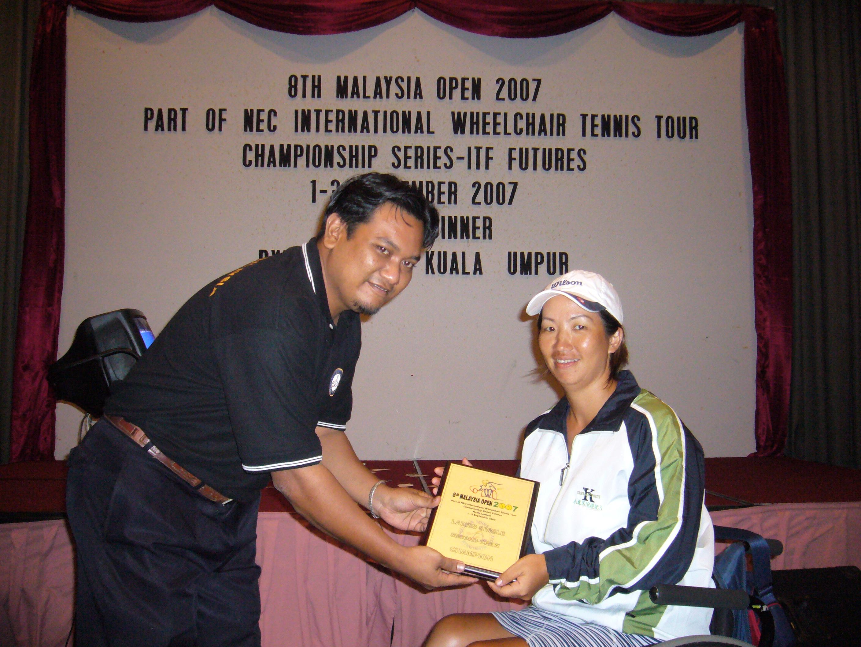 頒獎典禮-女子單打冠軍。