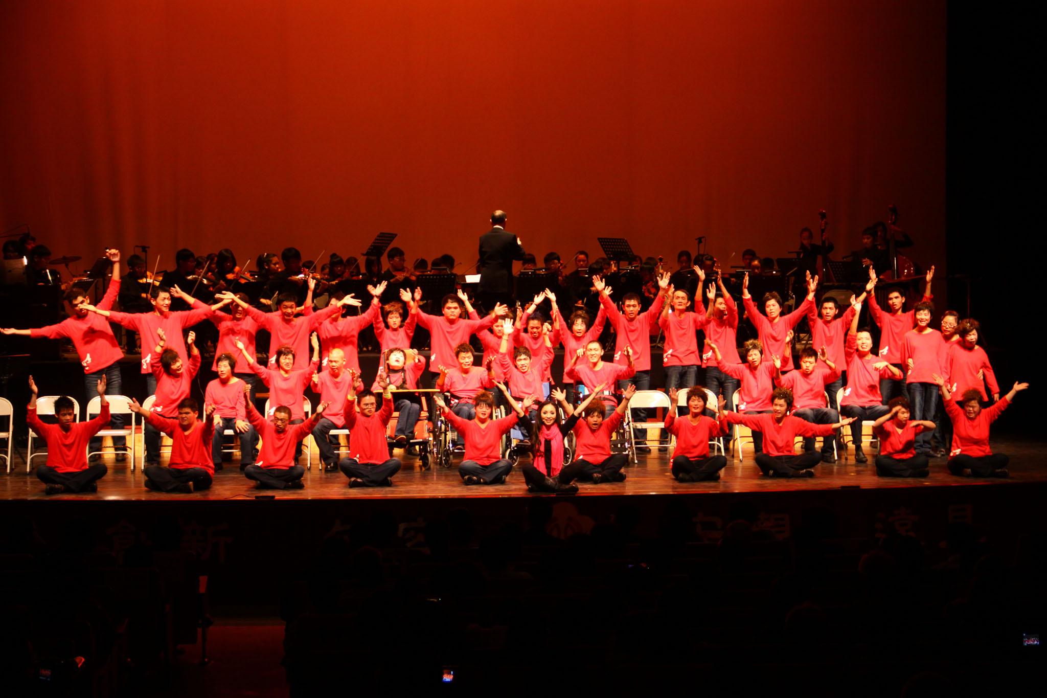 ▲「少年磐石」希望工程目的就是要幫助喜愛音樂的身心障礙朋友,構築一個快樂的音樂園地。