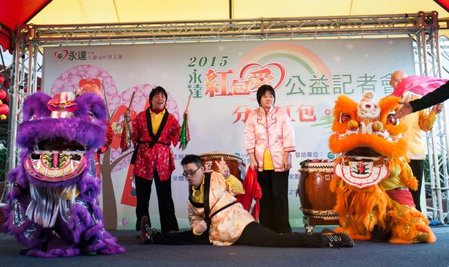 由樹仁基金會彩虹村家園成員所帶來的祥獅獻瑞開場表演。