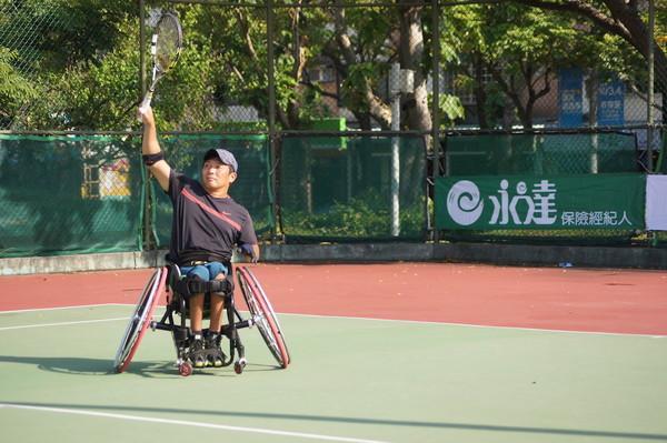 本屆永達盃吸引眾多國際好手參賽。(圖/台北市輪椅網球推廣協會提供)