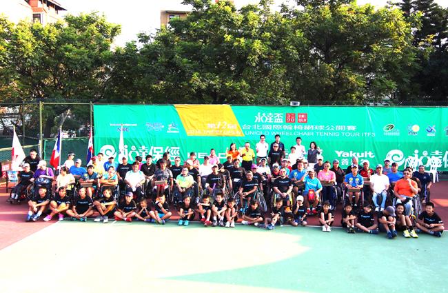 『2016第十二屆永達盃台北國際輪椅球公開賽』,10月2日於天母網球場與各國好手同場較勁。
