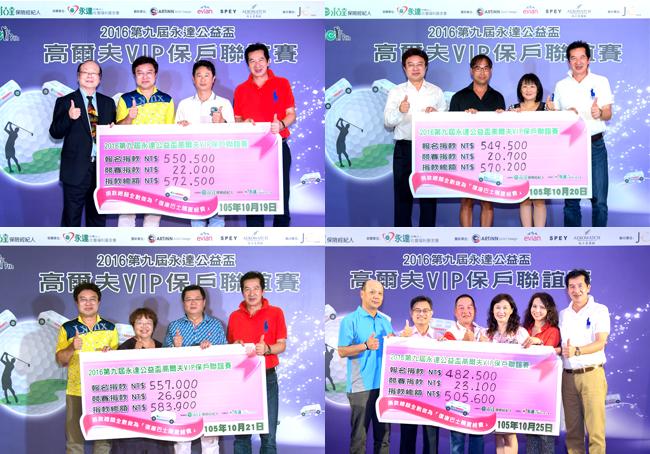 四場賽事參賽者保名費,全數捐出作為「復康巴士」購置費用。