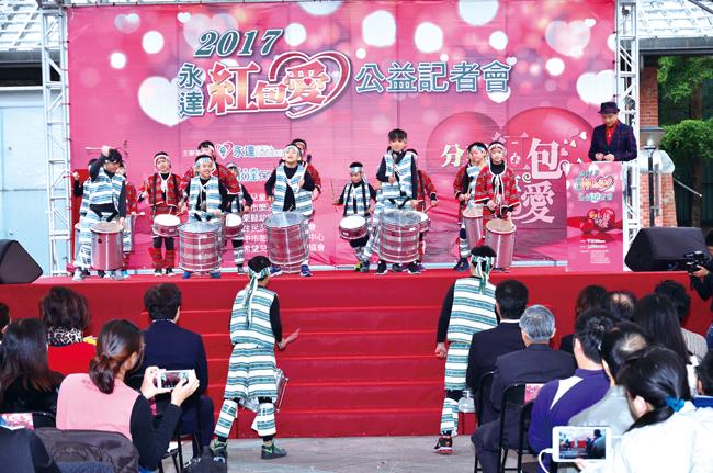 樟樹國小森巴鼓隊帶來精彩的表演「鼓聲雷動迎嘉賓」。