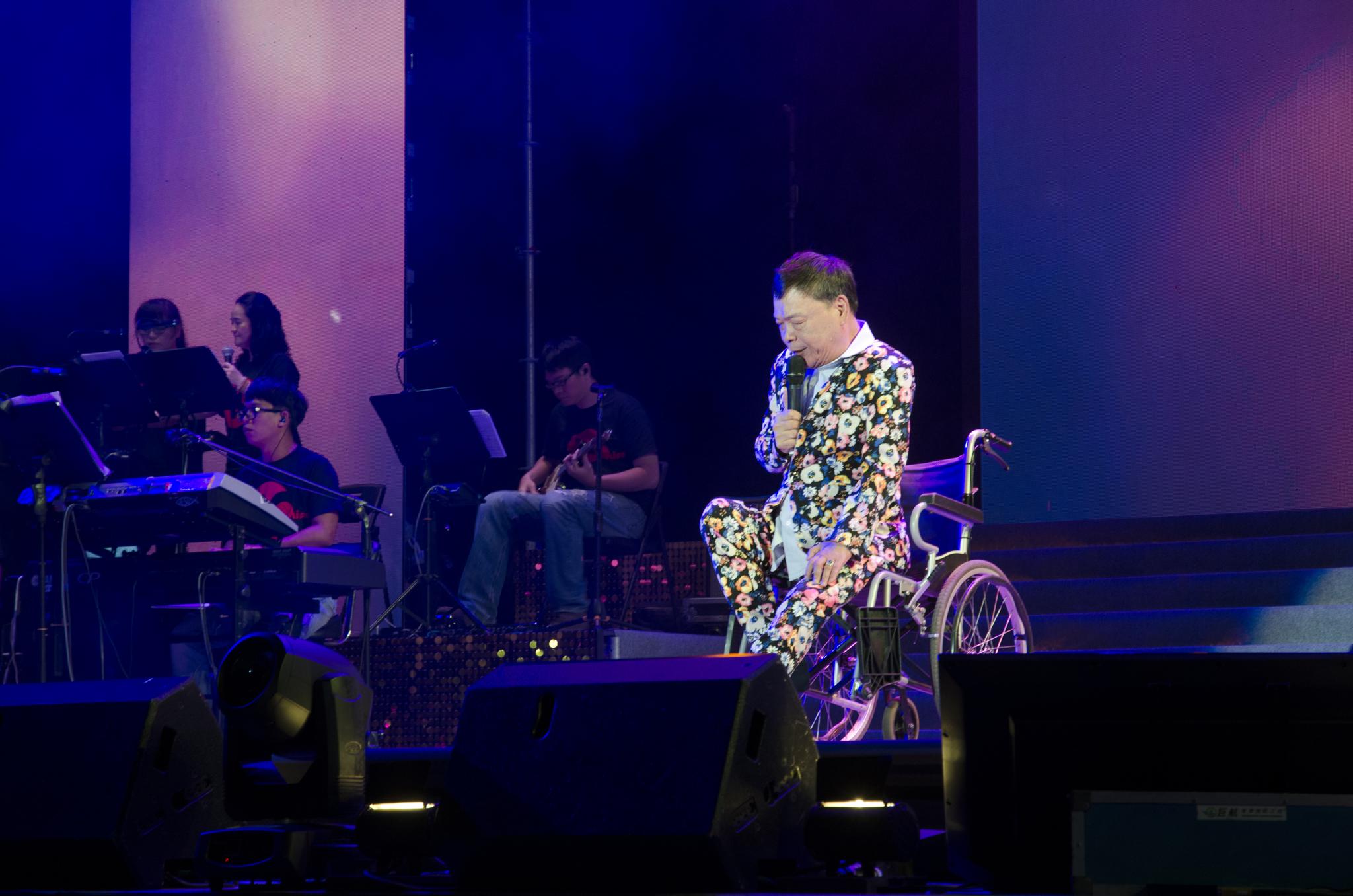 演唱會在實力派歌手阿吉仔的歌聲中畫下完美句點。