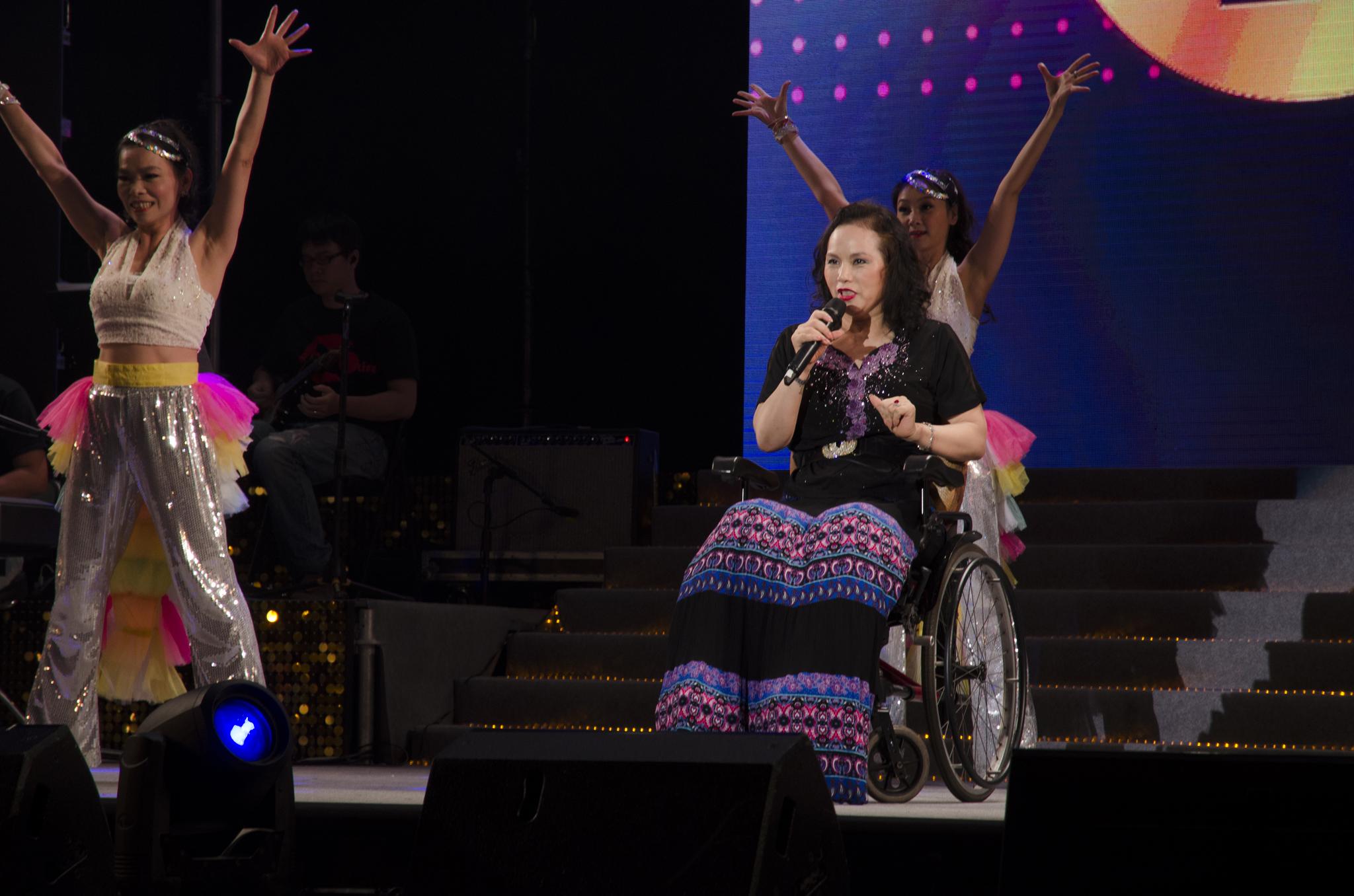 月亮歌后李珮菁以自身經歷鼓勵大家。