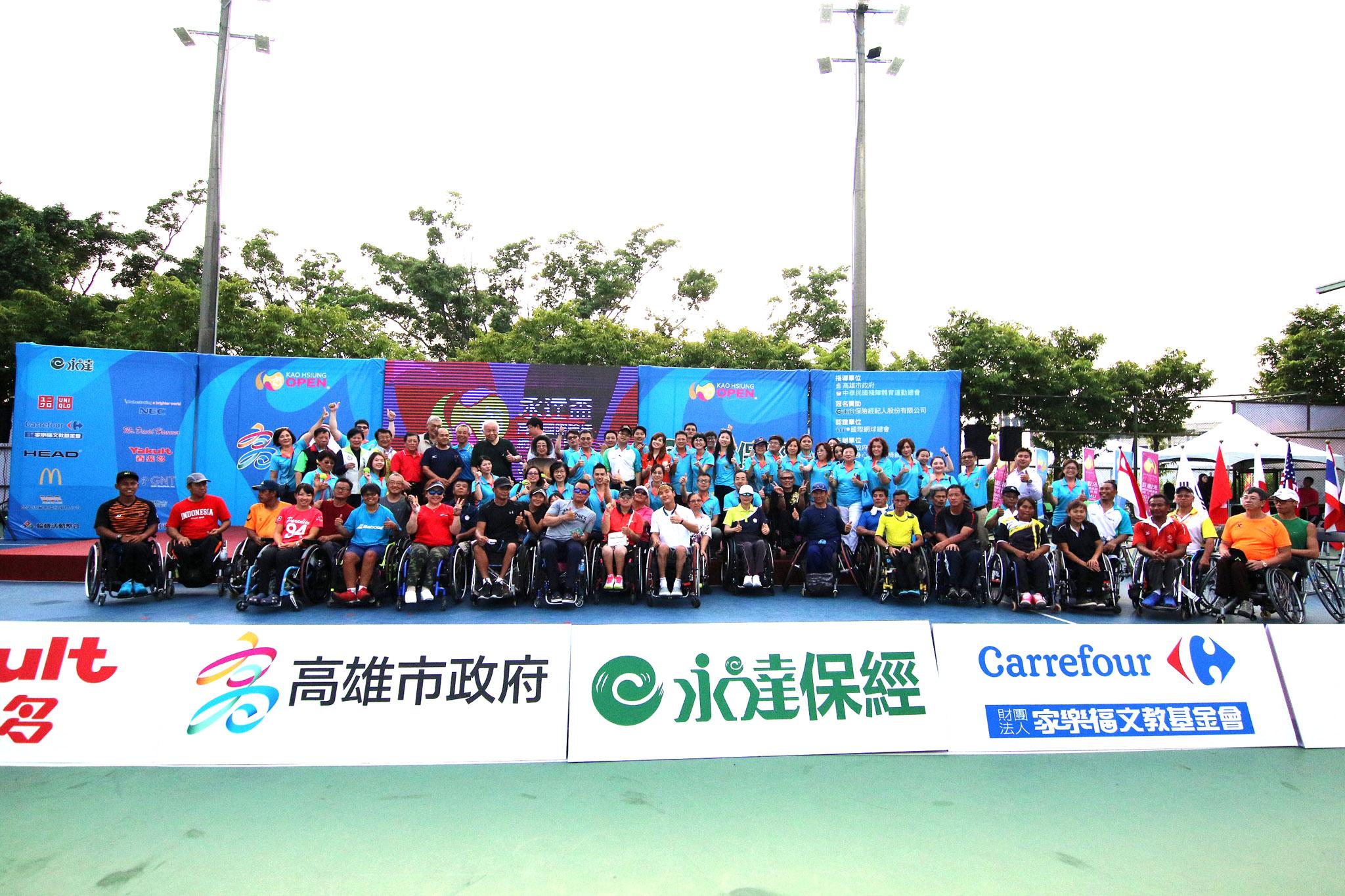 『永達盃第一屆高雄國際輪椅網球公開賽』,吸引來自11個國家好手同場較勁。