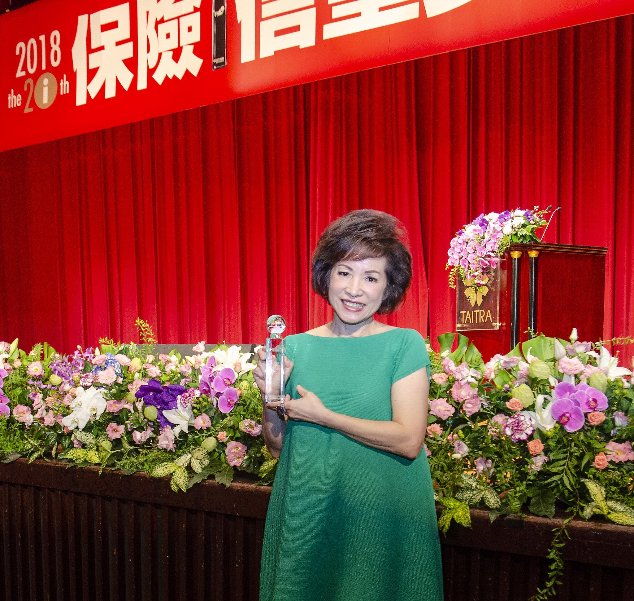 韓孫珍華業務副總榮獲最佳社會貢獻優選獎。