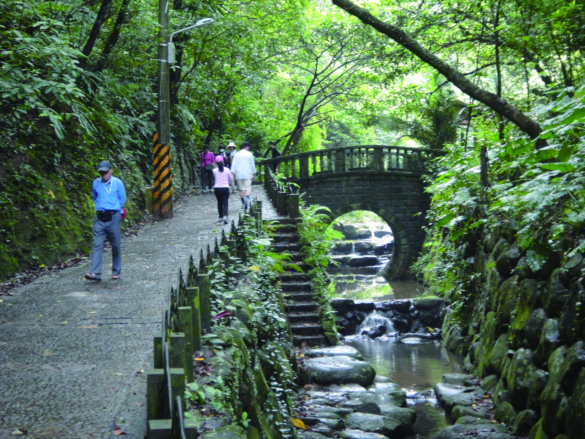 虎山溪步道(圖片提供/台北市政府工務局大地工程處)。