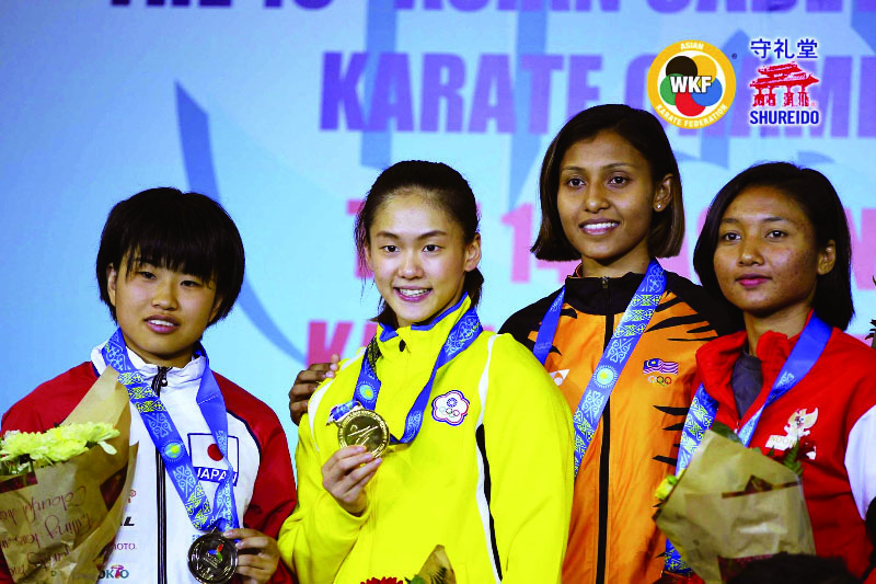 2017亞洲空手道錦標賽,文姿云勇奪女子55公斤金牌。