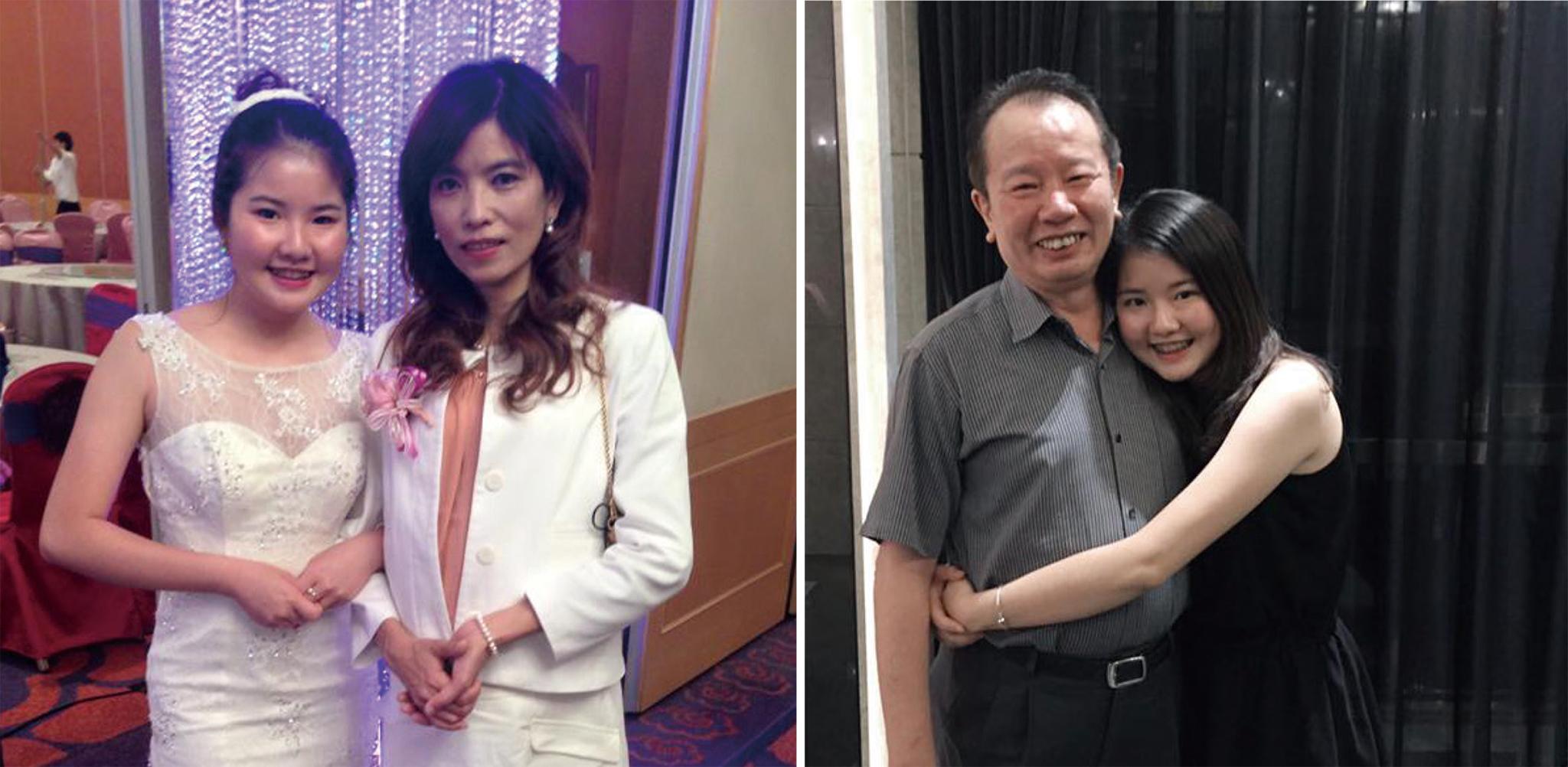 左圖:郭植伶與媽媽謝美美(右)的感情相當好;右圖:爸爸是郭植伶的偶像也是最大支柱。