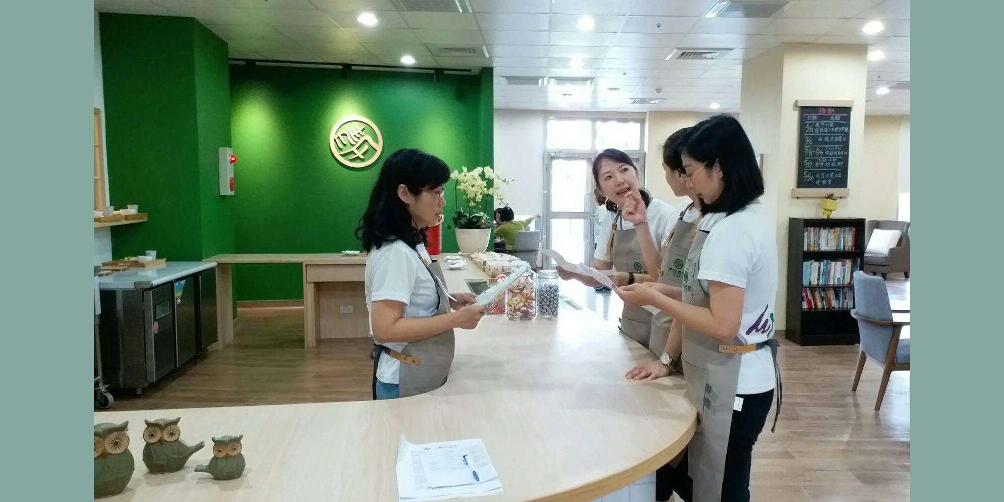 「青田食堂」提供從喘息服務、身心靈療癒到照顧技巧課程一應俱全。(青田食堂提供)。