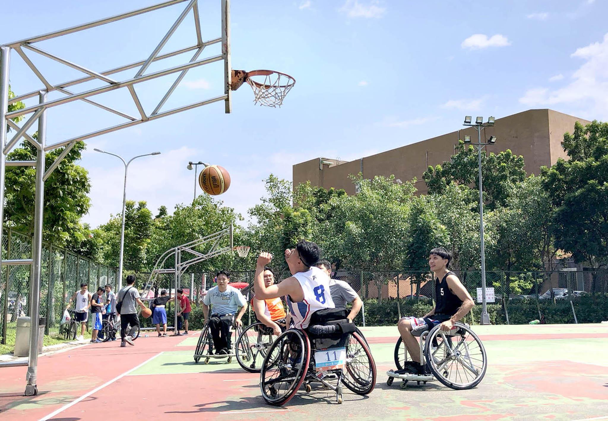 身障籃球競賽。