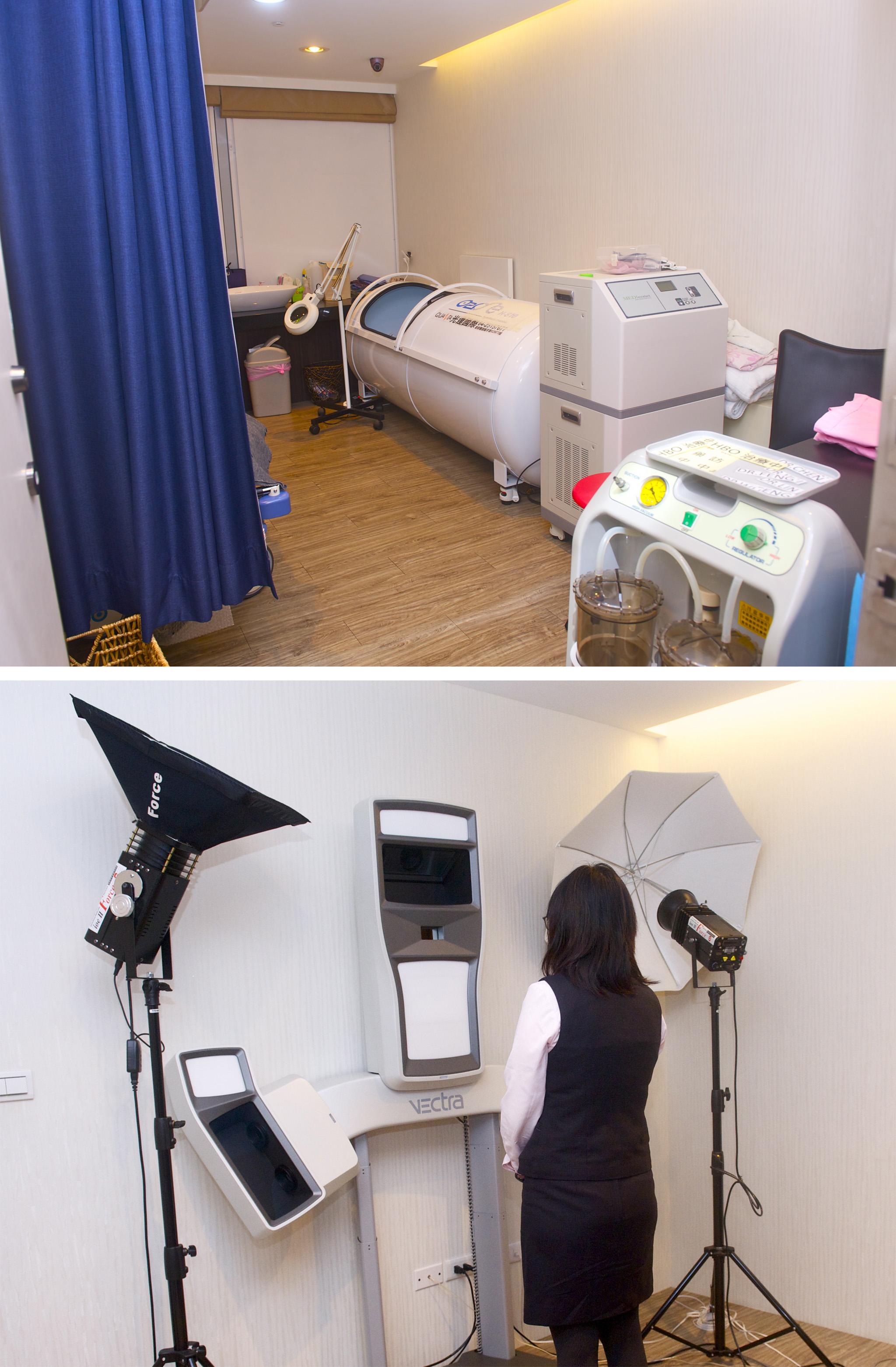 凡登配置3D儀器及高壓氧艙等專業醫學設備。