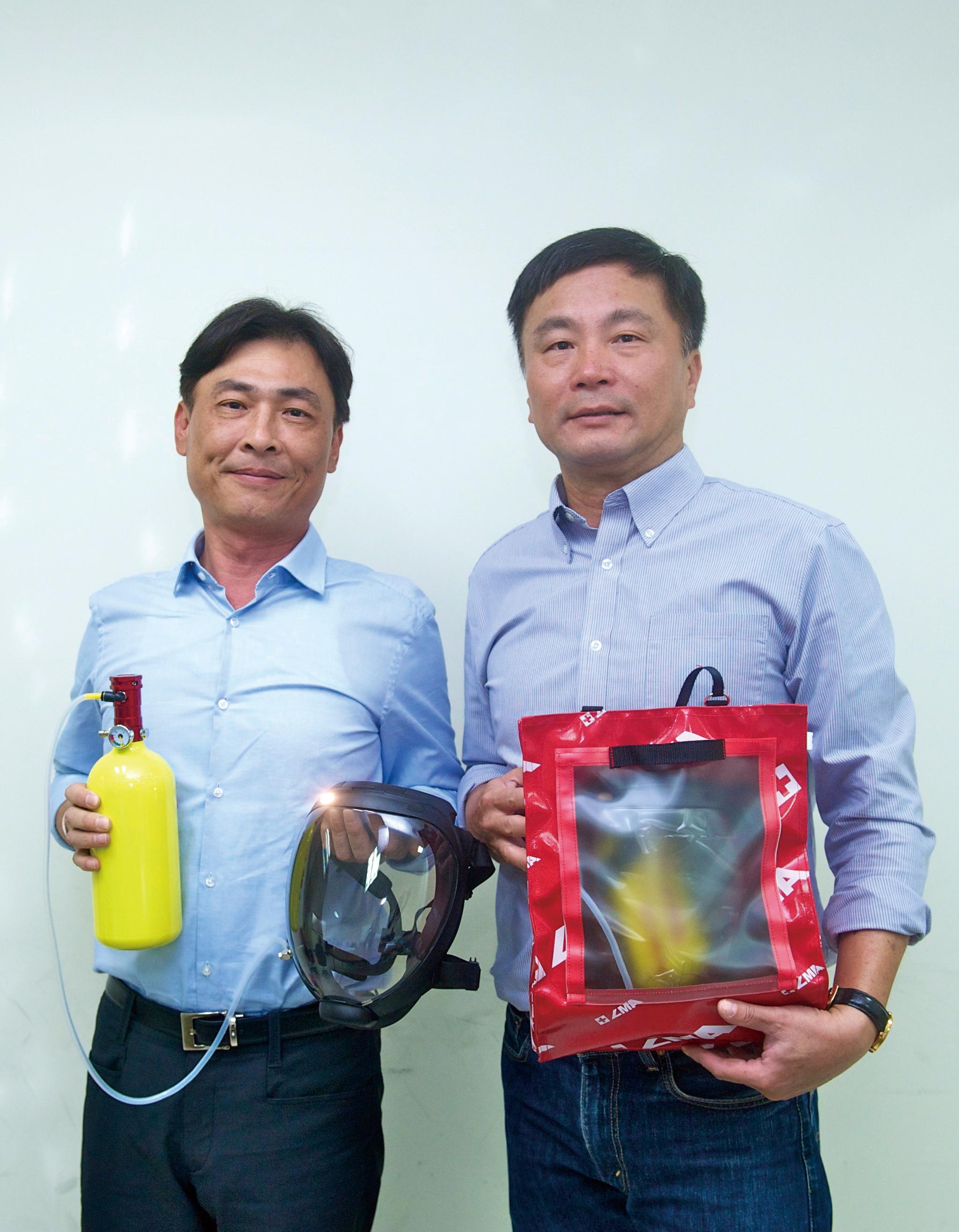 羅曼安佐創辦人范日正先生(左)及產品研發者涂錦勝先生(右)。