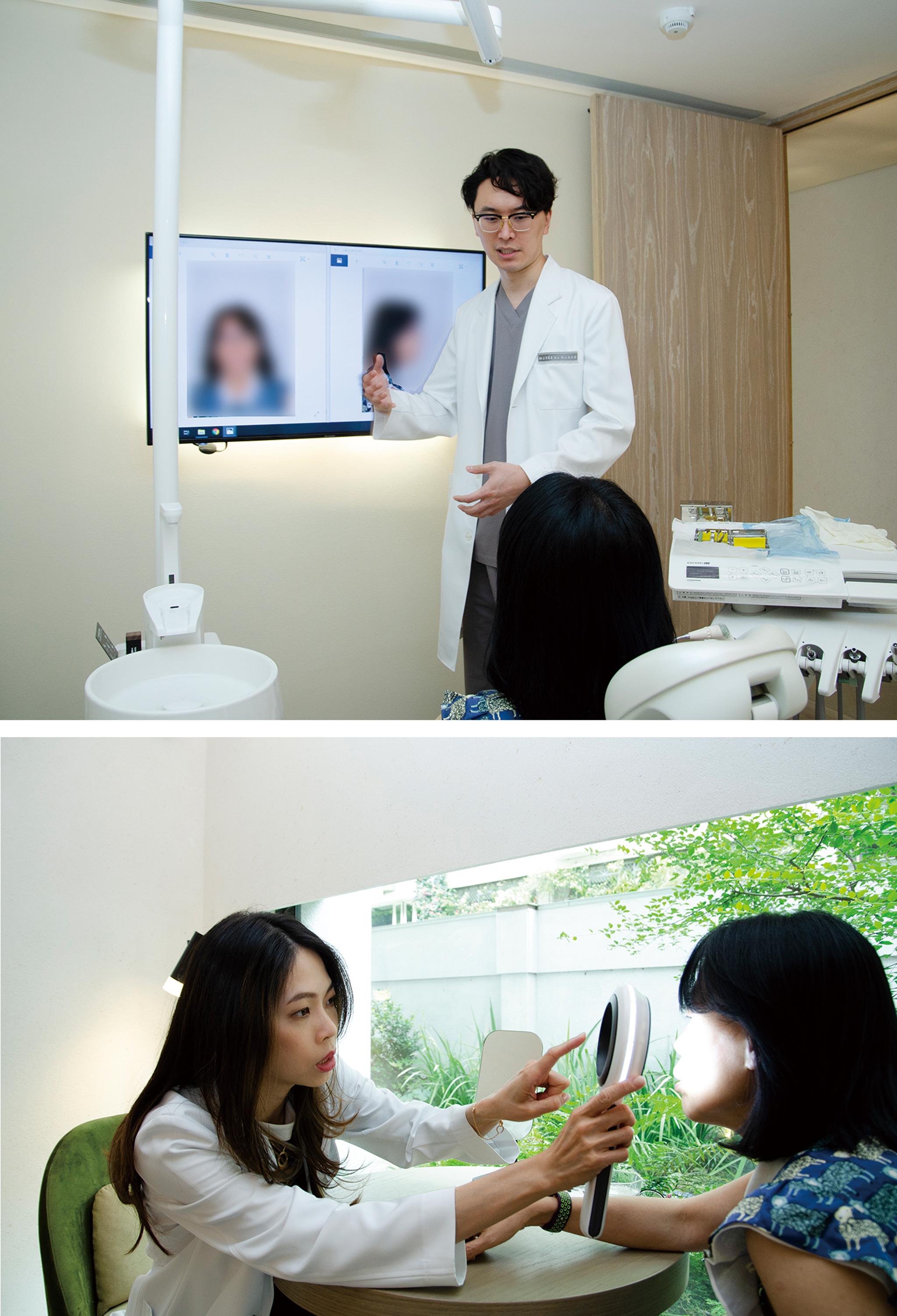 消費者治療前皆需經過醫師與精密儀器進行肌膚、口腔的仔細檢查,再著手規劃療程。