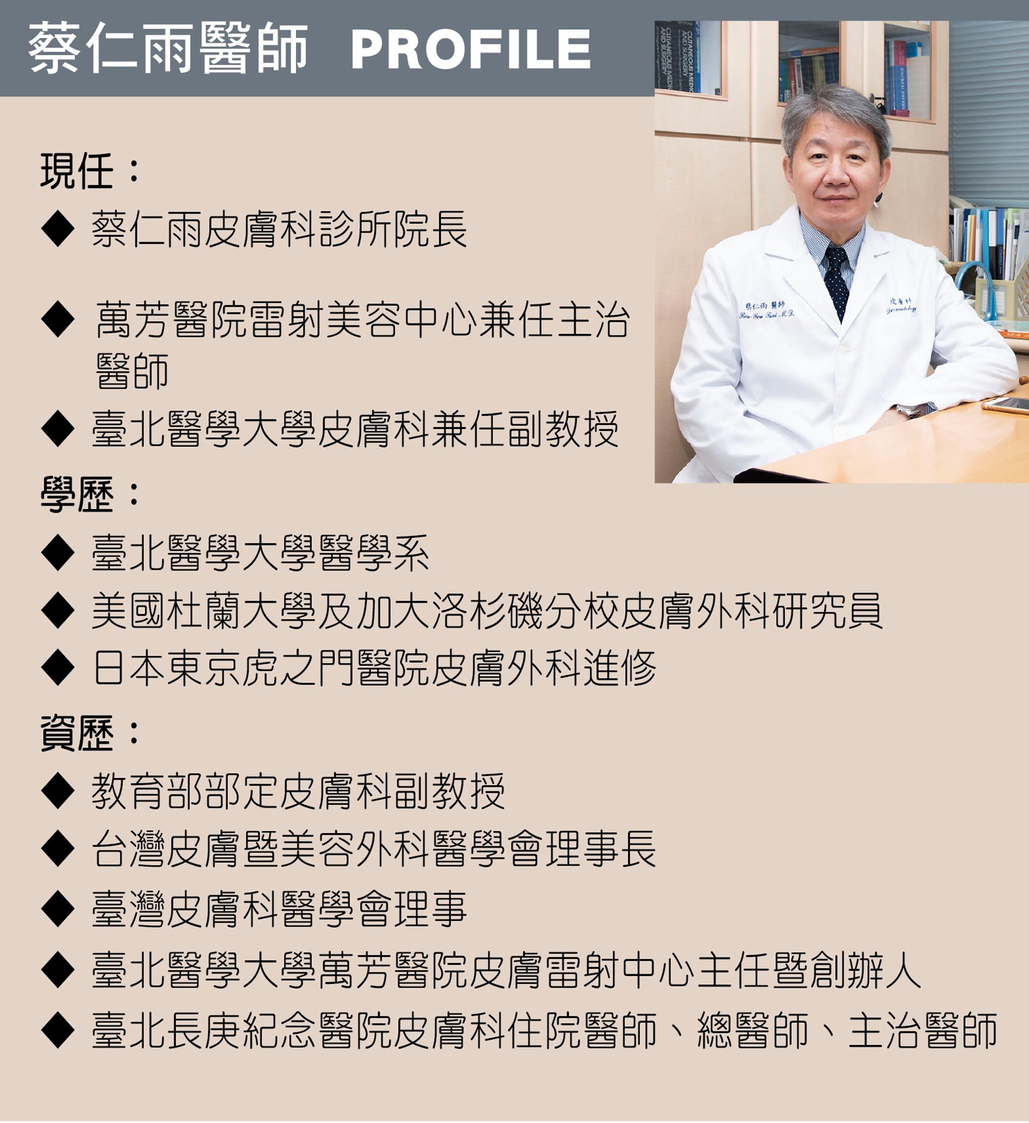 蔡仁雨醫師小檔案。