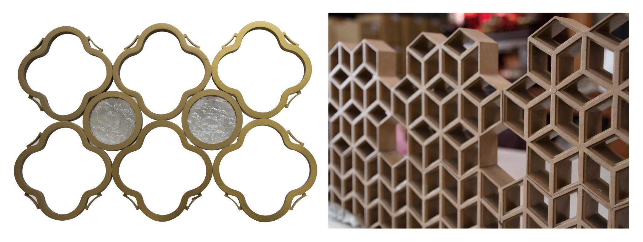 富強企業社承接客製化模具,圖為其曾開發的建材樣式。