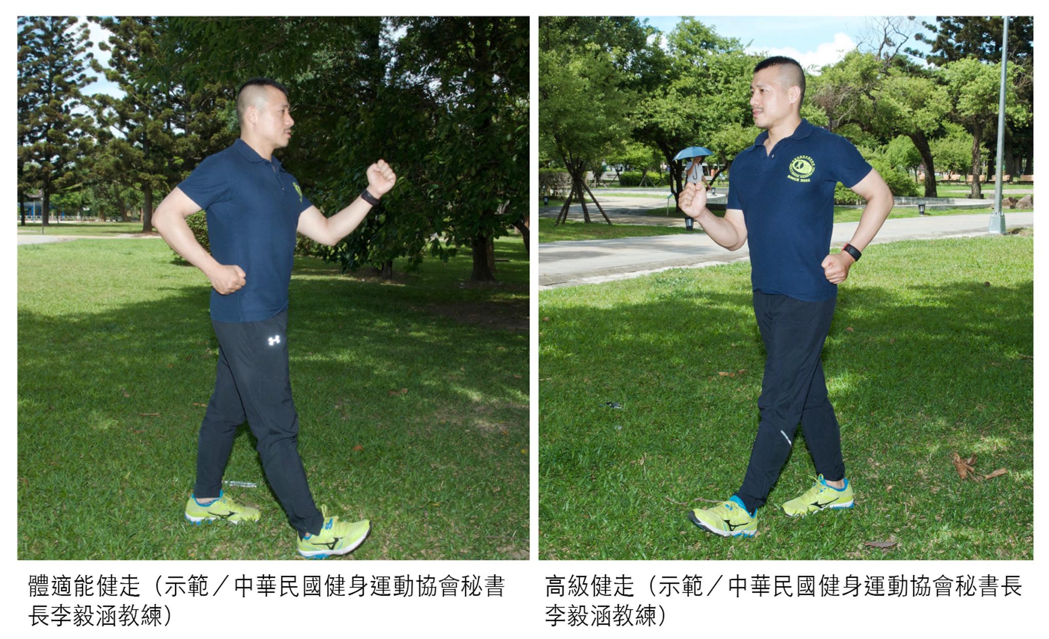 體適能健走與高級健走示範。