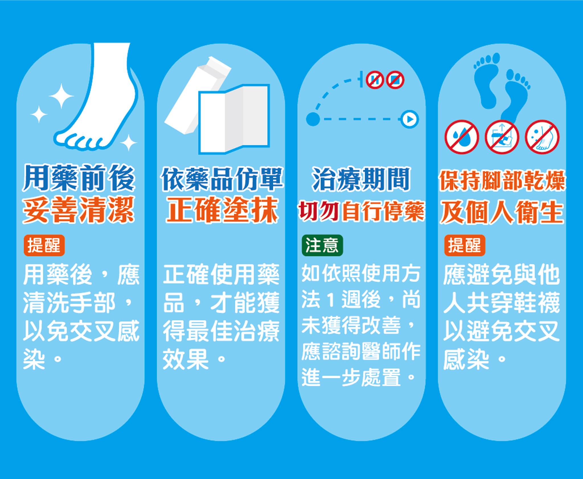 香港腳四「藥」點。
